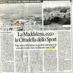 Cittadella Sportiva a La Maddalena, ridimensionata
