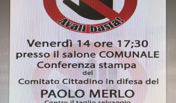Il Comitato cittadino in difesa del P. MERLO invita l'amministrazione comunale, l'unione dei comuni e la cittadinanza tutta alla conferenza stampa che si terrà nel salone consiliare […]